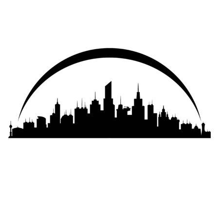 city: City. Illustration