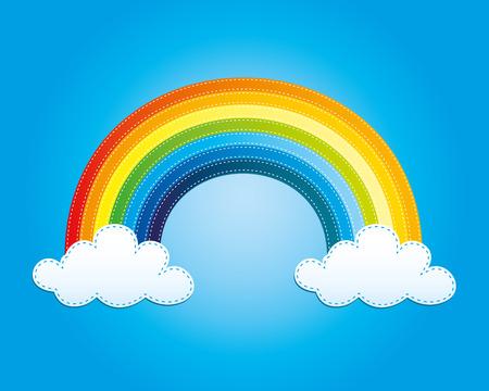 rainbow: Rainbow. Illustration