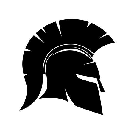 casco espartano. Ilustración de vector