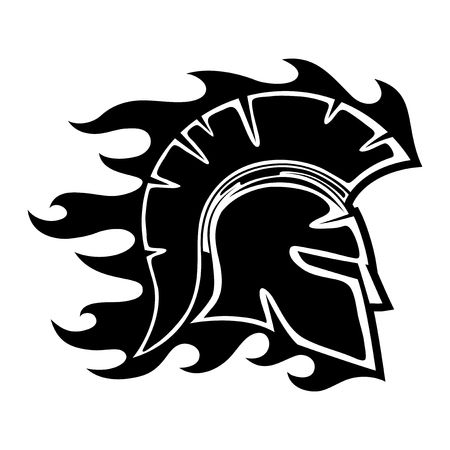 army helmet: Spartan helmet. Illustration