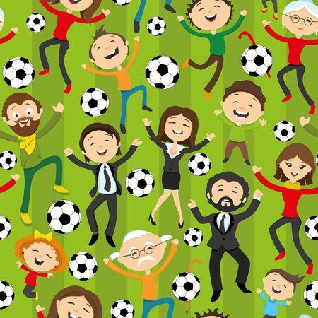 futbol infantil: Los aficionados al fútbol que saltan