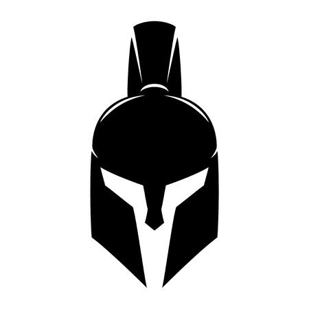 Spartan helmet. Ilustracja