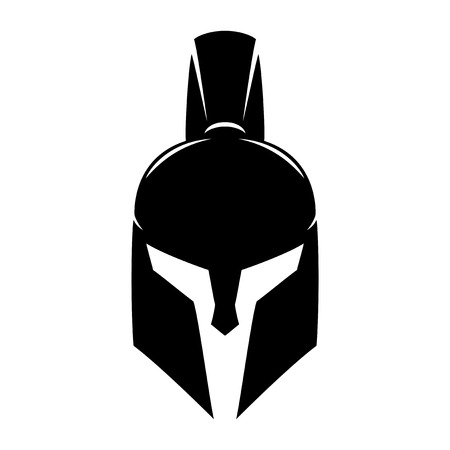 helmet: Spartan helmet. Illustration