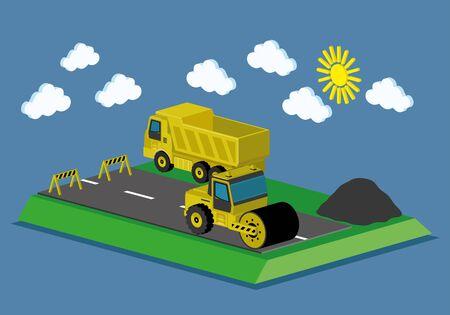 repairs: Road repairs.
