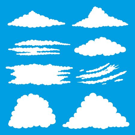 clouds: White clouds. Illustration