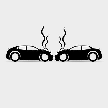 Car accident. Vettoriali