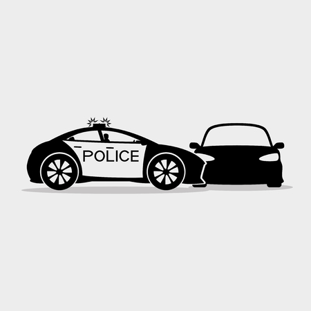 detained: Police detained the car. Illustration