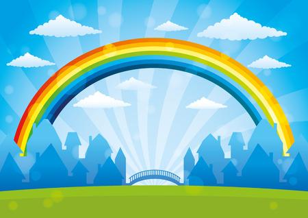 rainbow: Beautiful rainbow.
