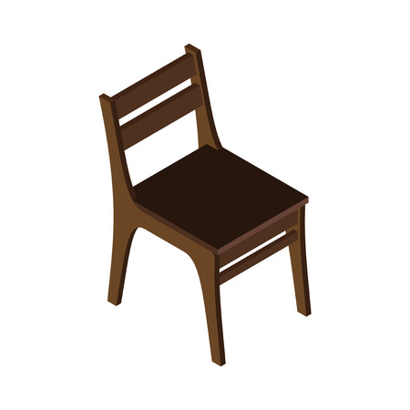 chair wooden: Wooden chair. Illustration