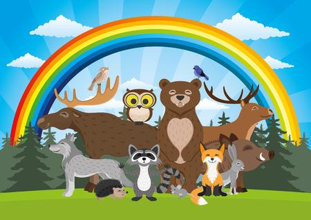 Forest animals. 向量圖像