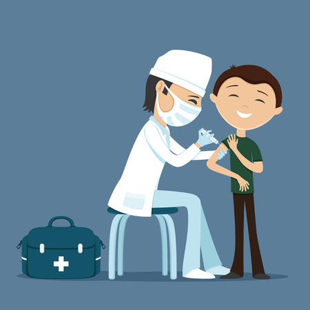 Doctor makes vaccination. Reklamní fotografie - 67302107