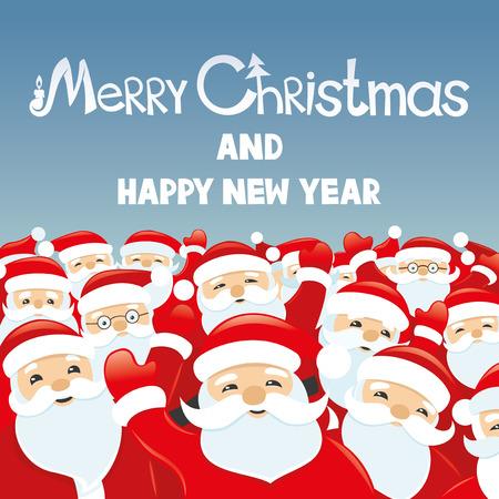 Santa Clauses.