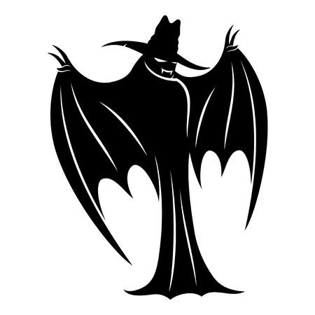 Bat sign. Illustration