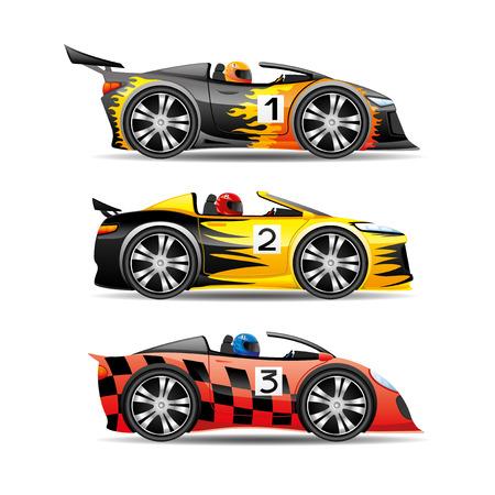 Racing cars. Illustration