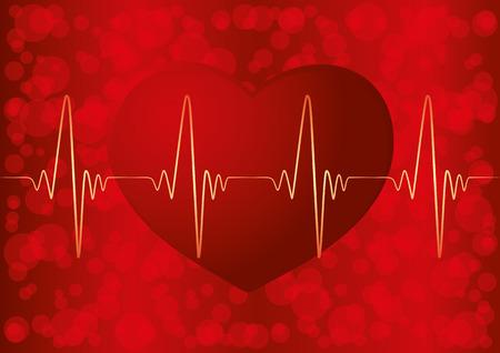 reanimation: Heart pulse. Illustration
