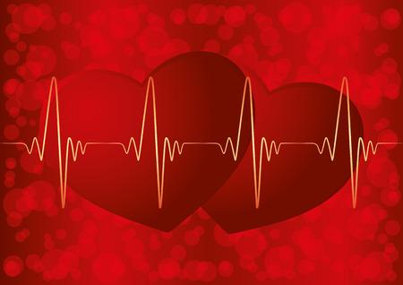 Heart pulse. Illustration