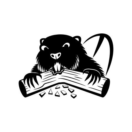 Beaver sign. Illustration