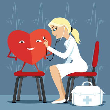 Doctor and heart. Illustration