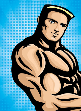 militaire sexy: homme sexy. Illustration