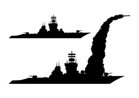 Warship icon. Illustration