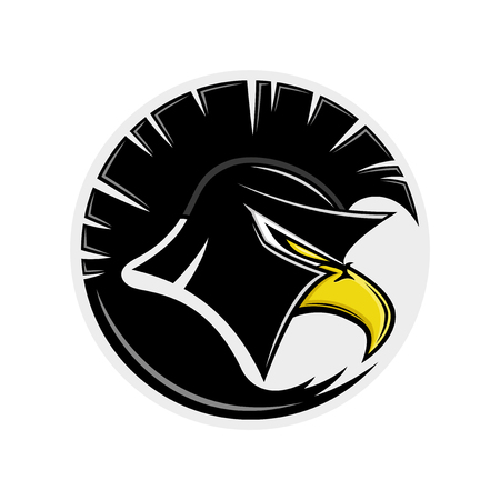 Eagle in a Spartan helmet.
