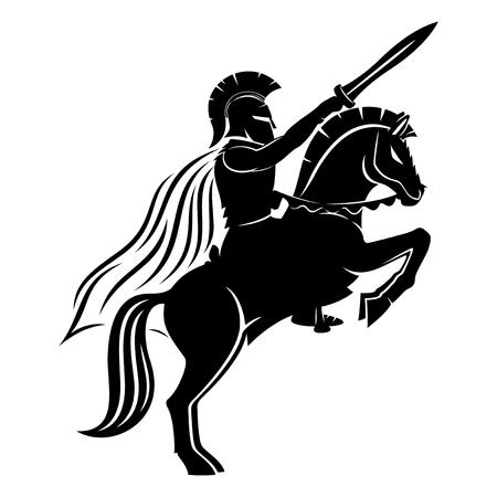 Spartan on a horse.