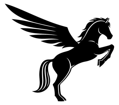 Sign of pegasus. Illustration