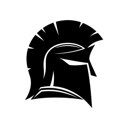 afraid: Spartan helmet. Illustration