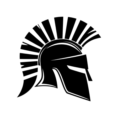 Spartan helmet. Stock Illustratie
