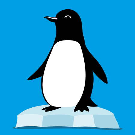 Penguin on the ice floe.