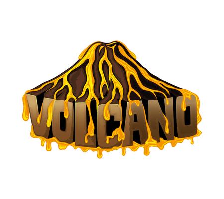 Beautiful volcano illustration