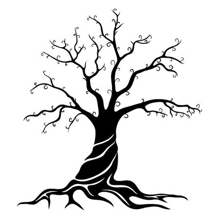 Black tree illustration.