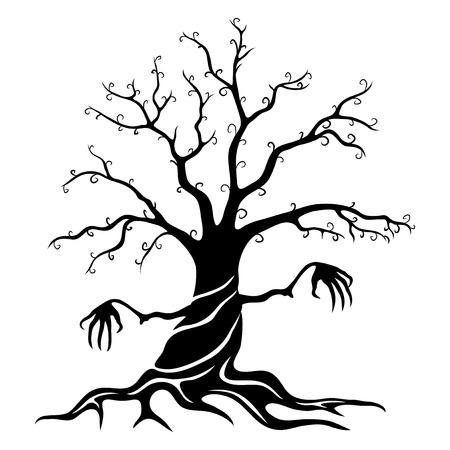 Black tree. 向量圖像