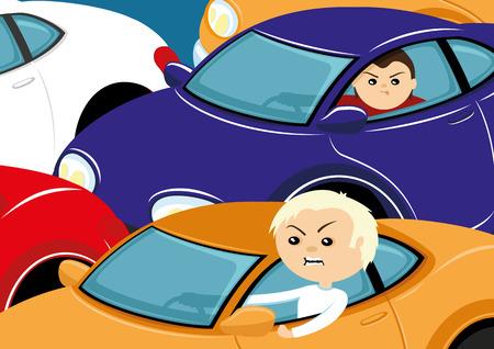 Traffic jam. Ilustração