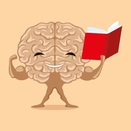 책과 함께 강한 두뇌.
