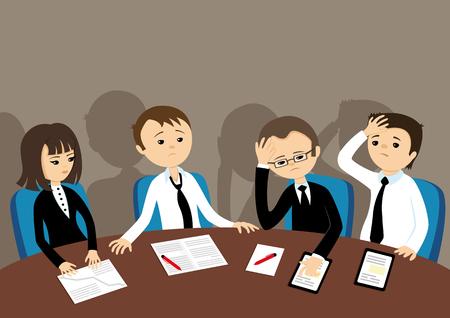 Sad business team. Illustration