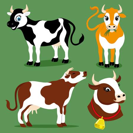 cute cartoon: Cute cows.