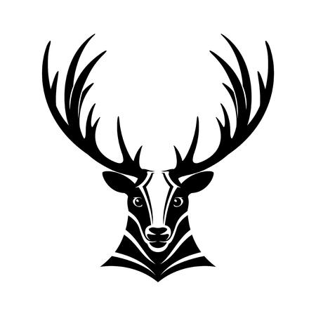 Reindeer sign. vector illustration