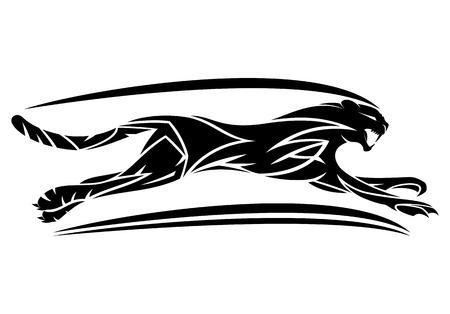 Panther-bord. Vector illustratie. Vector Illustratie