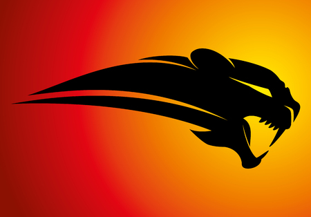 Panther-bord. Vector illustratie.