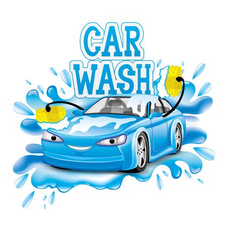 Car wash sign. Vector illustration.