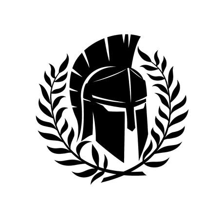 Spartan helmet. Ilustrace