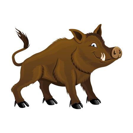 Wild boar image illustration Illustration