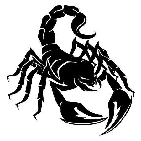 Signo de un escorpión negro.