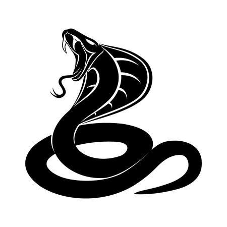 Cobra-Schlange-Zeichen auf weißem Hintergrund.
