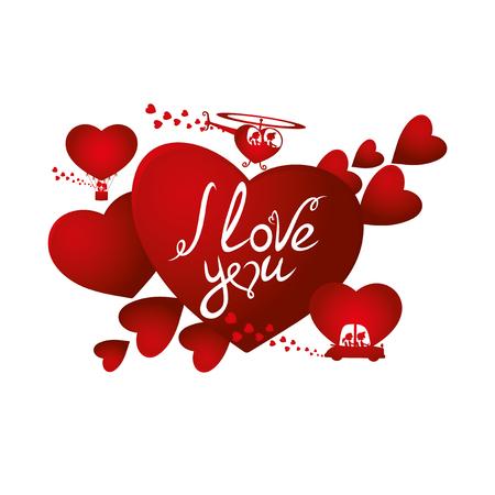 Rote Herzen auf weißem Hintergrund.