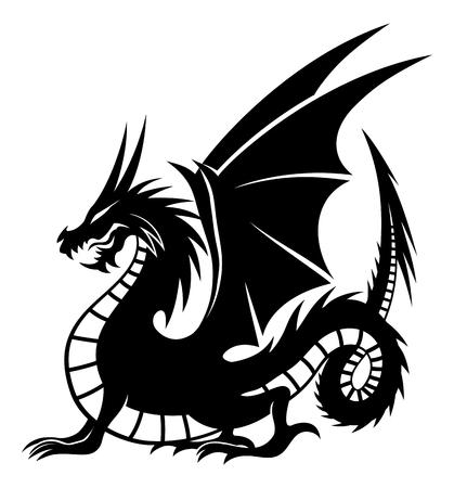 Black dragon sign.