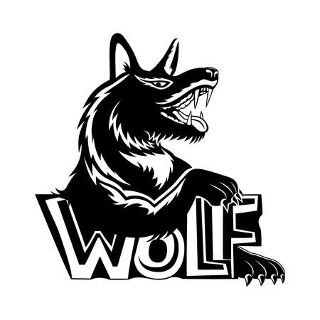 Black wolf sign.