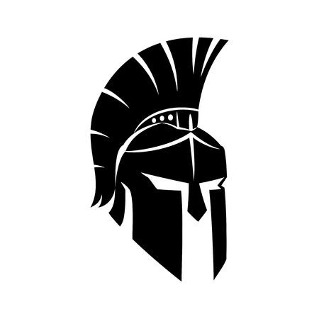 Czarny spartański kask.