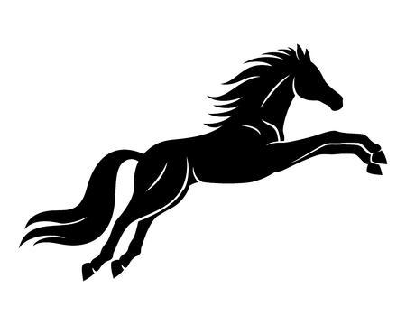 Black horse sign.